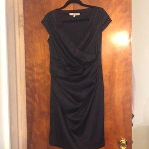 Dresses & Skirts - Evan-Picone navy satin stretch formal dress
